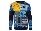 San Diego Chargers Forever Collectibles NFL Men's Patches Ugly Sweater Sweatshirts