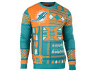Miami Dolphins Forever Collectibles NFL Men's Patches Ugly Sweater Sweatshirts