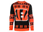 Cincinnati Bengals Forever Collectibles NFL Men's Big Logo Ugly Sweater Sweatshirts