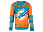 Miami Dolphins Forever Collectibles NFL Men's Big Logo Ugly Sweater Sweatshirts