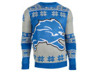 Detroit Lions Forever Collectibles NFL Men's Big Logo Ugly Sweater Sweatshirts