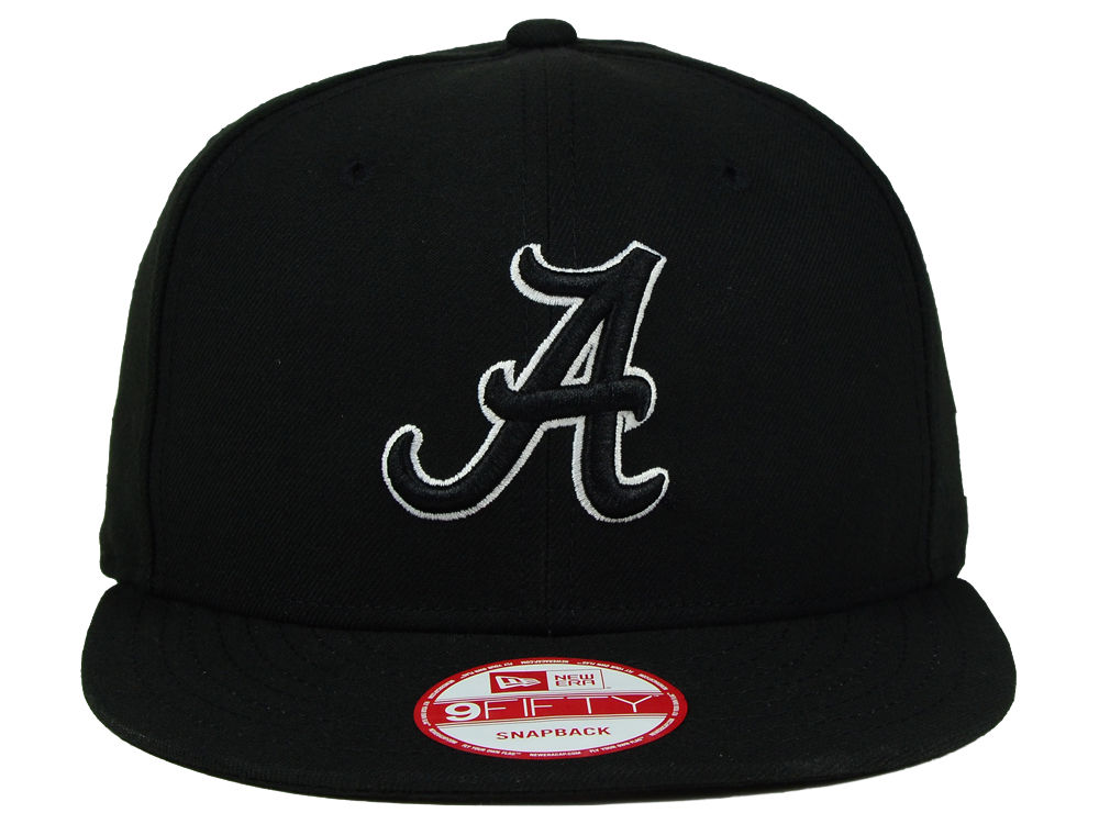finest selection 35f80 41d10 Alabama Crimson Tide New Era NCAA Black White Fashion 9FIFTY Snapback Cap  high-quality