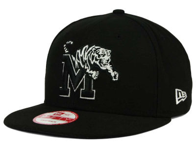 Memphis Tigers NCAA Black White Fashion 9FIFTY Snapback Cap Hats
