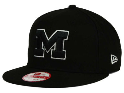 Michigan Wolverines NCAA Black White Fashion 9FIFTY Snapback Cap Hats