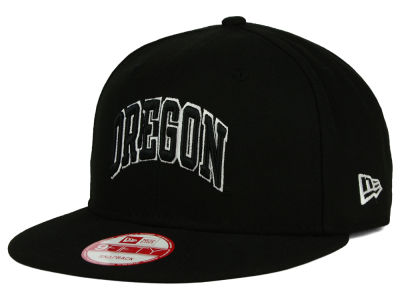 Oregon Ducks NCAA Black White Fashion 9FIFTY Snapback Cap Hats