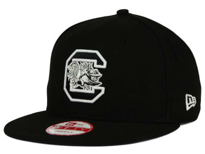 South Carolina Gamecocks NCAA Black White Fashion 9FIFTY Snapback Cap Hats