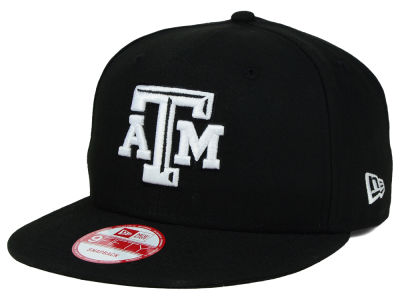 Texas A&M Aggies NCAA Black White Fashion 9FIFTY Snapback Cap Hats