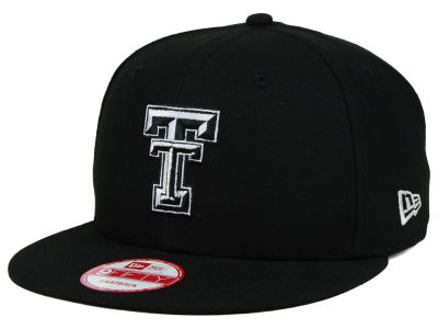 Texas Tech Red Raiders NCAA Black White Fashion 9FIFTY Snapback Cap Hats