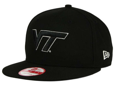 Virginia Tech Hokies NCAA Black White Fashion 9FIFTY Snapback Cap Hats