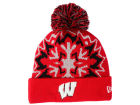 Wisconsin Badgers New Era NCAA Glowflake 2.0 Knit Hats