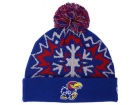 Kansas Jayhawks New Era NCAA Glowflake 2.0 Knit Hats