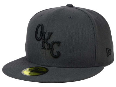 Oklahoma City Dodgers MiLB Gray Black White 59FIFTY Cap Hats