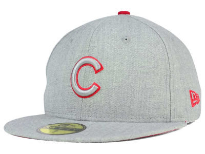 Chicago Cubs MLB Heather League Basic 59FIFTY Cap Hats