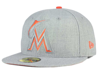 Miami Marlins MLB Heather League Basic 59FIFTY Cap Hats