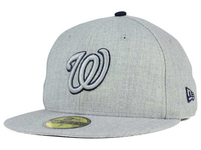 Washington Nationals MLB Heather League Basic 59FIFTY Cap Hats