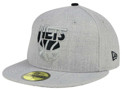 New Jersey Nets NBA HWC Heather League Basic 59FIFTY Cap Hats