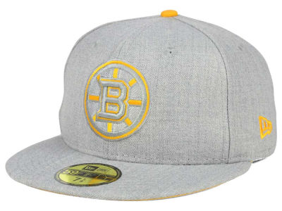 Boston Bruins NHL Heather League Basic 59FIFTY Cap Hats