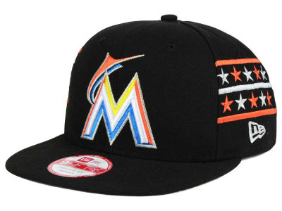 Miami Marlins MLB Fine Side 9FIFTY Snapback Cap Hats