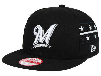 Milwaukee Brewers MLB Fine Side 9FIFTY Snapback Cap Hats