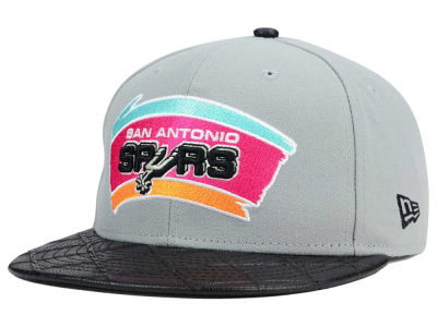 San Antonio Spurs NBA HWC Visor Cross 9FIFTY Snapback Cap Hats