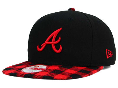 Atlanta Braves MLB Premium Plaid 9FIFTY Snapback Cap Hats