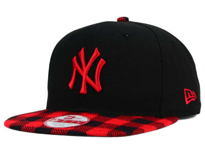 New York Yankees MLB Premium Plaid 9FIFTY Snapback Cap Hats