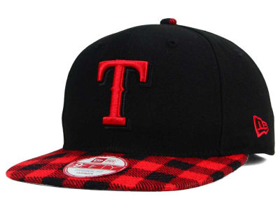 Texas Rangers MLB Premium Plaid 9FIFTY Snapback Cap Hats