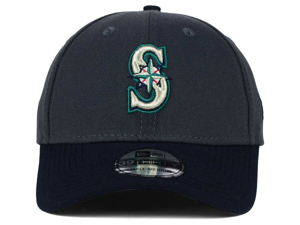 san francisco 84160 4529d good Seattle Mariners New Era MLB Graphite Team Classic 39THIRTY Cap