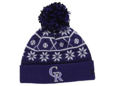 Colorado Rockies MLB Sweater Chill Pom Knit Hats