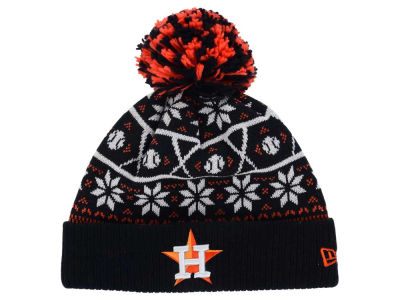 Houston Astros MLB Sweater Chill Pom Knit Hats