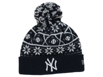 New York Yankees MLB Sweater Chill Pom Knit Hats