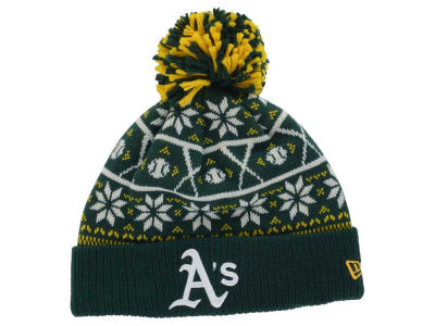 Oakland Athletics MLB Sweater Chill Pom Knit Hats