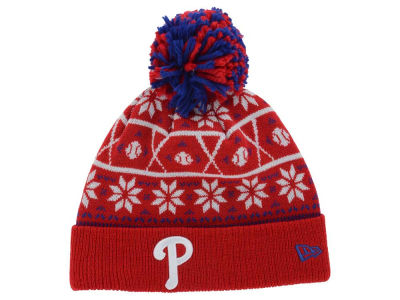 Philadelphia Phillies MLB Sweater Chill Pom Knit Hats