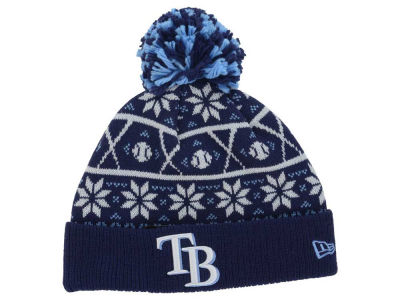 Tampa Bay Rays MLB Sweater Chill Pom Knit Hats