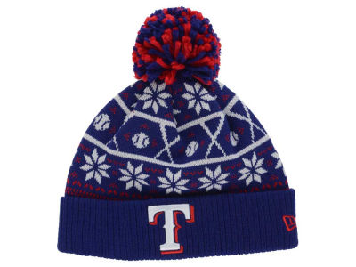 Texas Rangers MLB Sweater Chill Pom Knit Hats