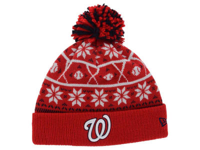 Washington Nationals MLB Sweater Chill Pom Knit Hats