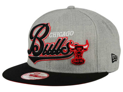 Chicago Bulls NBA HWC Big Heather 9FIFTY Snapback Cap Hats