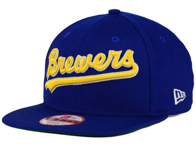 Milwaukee Brewers MLB XL Script 9FIFTY Snapback Cap Hats