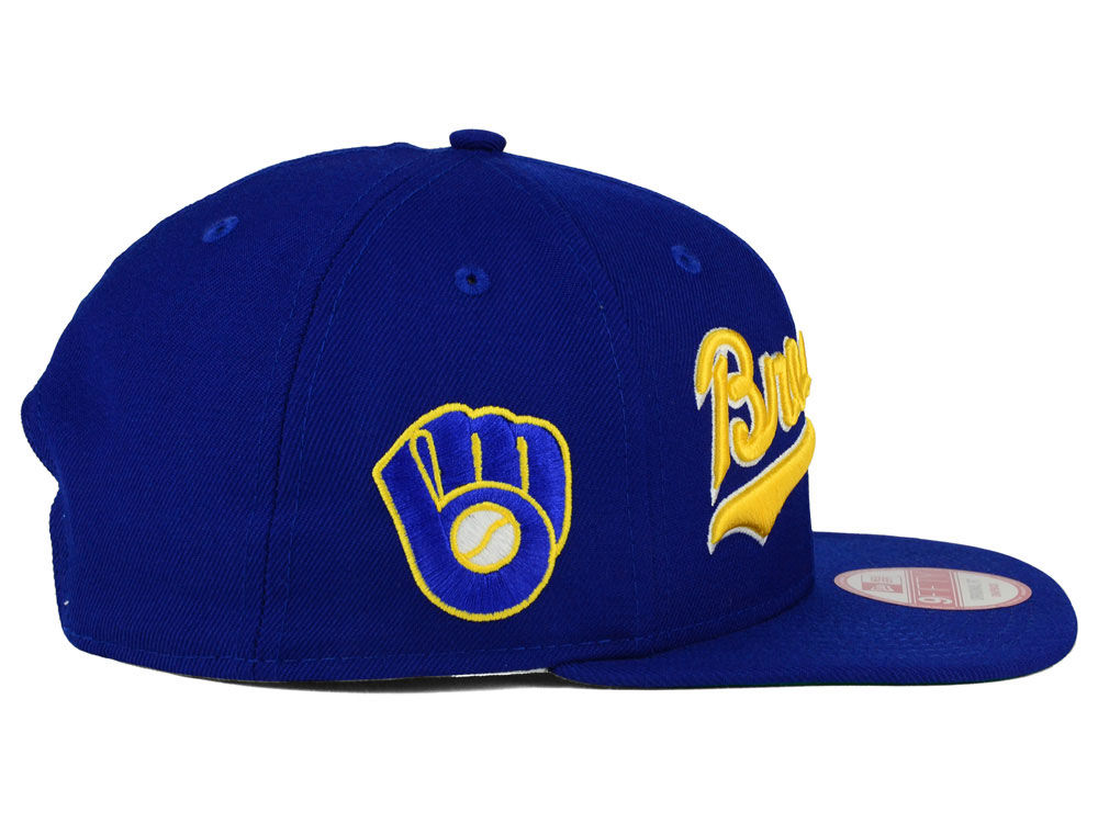 san francisco 0092e 97423 ... best price high quality milwaukee brewers new era mlb xl script 9fifty  snapback cap 2d820 3838f
