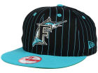 Florida Marlins New Era MLB Vintage Pinstripe 9FIFTY Snapback Cap Adjustable Hats