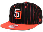 San Diego Padres New Era MLB Vintage Pinstripe 9FIFTY Snapback Cap Adjustable Hats