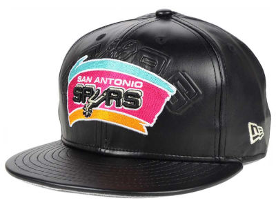 San Antonio Spurs NBA HWC Leather Stamp 9FIFTY Snapback Cap Hats