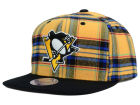 Pittsburgh Penguins Mitchell and Ness NHL Plaid Snapback Cap Adjustable Hats
