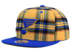 St. Louis Blues Mitchell and Ness NHL Plaid Snapback Cap Adjustable Hats