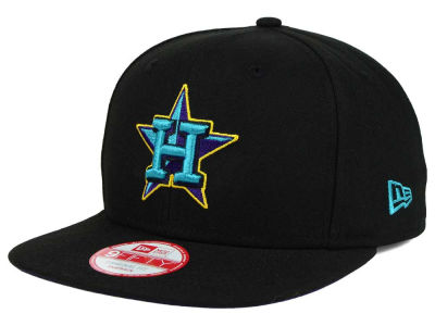 Houston Astros MLB Aqua Hook Basic 9FIFTY Snapback Cap Hats