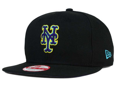 New York Mets MLB Aqua Hook Basic 9FIFTY Snapback Cap Hats