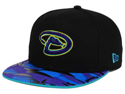Arizona Diamondbacks MLB Aqua Hook Vize 9FIFTY Snapback Cap Hats