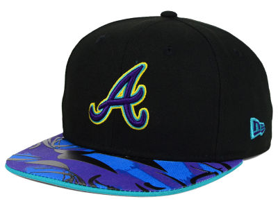 Atlanta Braves MLB Aqua Hook Vize 9FIFTY Snapback Cap Hats