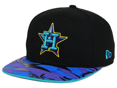 Houston Astros MLB Aqua Hook Vize 9FIFTY Snapback Cap Hats