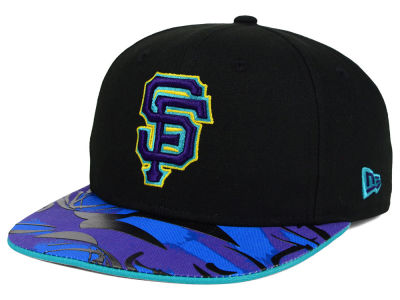 San Francisco Giants MLB Aqua Hook Vize 9FIFTY Snapback Cap Hats